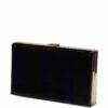 Torebka kopertówka czarna lakierowana duża