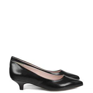 JESSICA - Czarne niskie czółenka. Wykonane z licowej skóry naturalnej. Wygodne buty na codzień lub jako buty wizytowe.