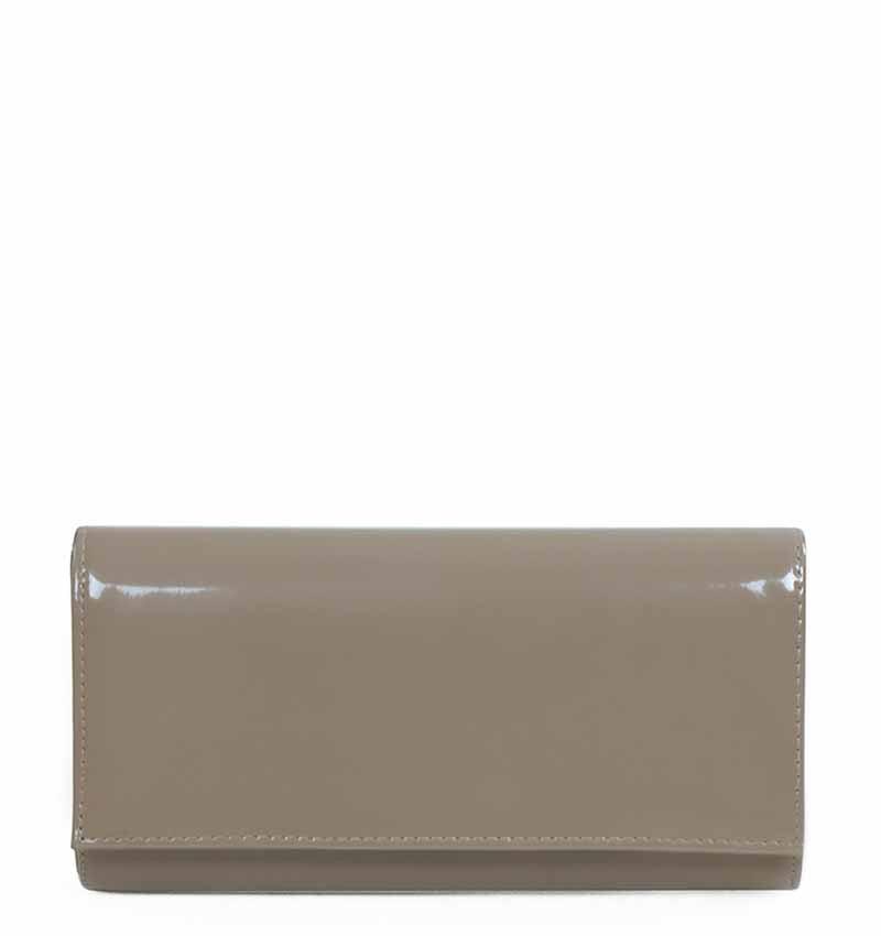 f735aefaafe17 Torebka szara kopertówka lakierowana prosta | Azure |Twój ulubiony sklep